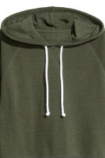Cropped hooded top - Dark green - Ladies | H&M CN 3