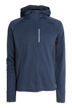 Hooded running jacket - Dark blue marl - Men | H&M 2