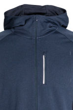 Hooded running jacket - Dark blue marl - Men | H&M 3