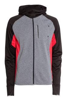 Hooded running jacket