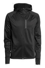 Hooded running jacket - Black - Men | H&M CN 2