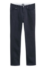 Premium cotton twill trousers - Dark blue - Men | H&M CA 4