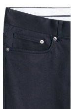 Premium cotton twill trousers - Dark blue - Men | H&M CA 6