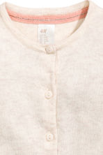 Cotton cardigan - Light beige -  | H&M 2
