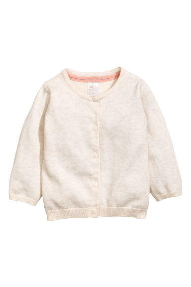 Cotton cardigan - Light beige -  | H&M 1