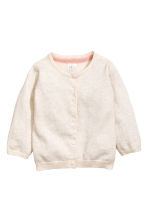 Cotton cardigan - Light beige -  | H&M CN 1