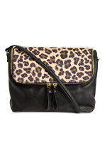 Shoulder bag - Black/Leopard print - Ladies | H&M CN 1