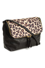 Shoulder bag - Black/Leopard print - Ladies | H&M CN 2