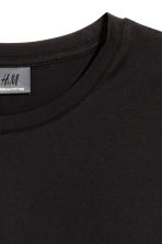 Premium cotton T-shirt - Black - Men | H&M CN 3
