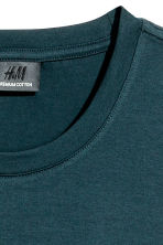 Premium cotton T-shirt - Dark petrol - Men | H&M CN 3