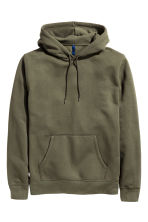 Hooded top - Dark khaki green - Men | H&M 2