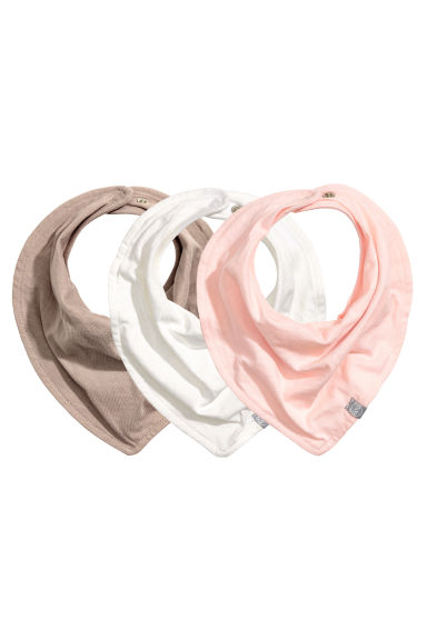 3-pack triangular scarves - Light pink - Kids | H&M 1