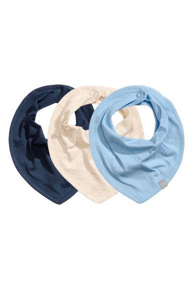 3-pack triangular scarves - Dark blue - Kids | H&M 1