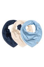 3-pack triangular scarves - Dark blue - Kids | H&M CN 1