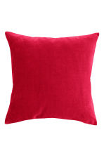 Housse de coussin en velours - Rouge - Home All | H&M FR 1