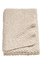 Moss-knit blanket - Natural white - Home All | H&M CN 1