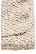 Moss-knit blanket - Natural white - Home All | H&M CN 2
