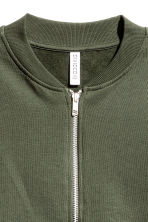 Sweatshirt jacket - Khaki green - Ladies | H&M CN 3