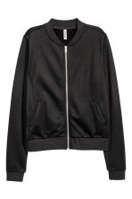 Sweatshirt jacket - Black - Ladies | H&M 2