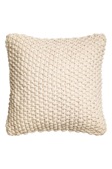 Copricuscino a punto riso - Bianco naturale - HOME | H&M IT 1