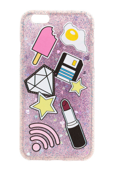 Cover per iPhone 6/7 - Viola/glitter - DONNA | H&M IT