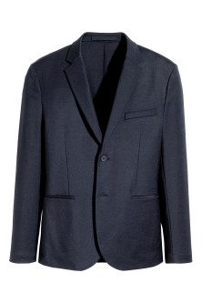 Textured jacket Slim fit