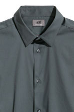 Stretch shirt Slim fit - Dark petrol - Men | H&M CN 3