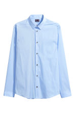 Stretch shirt Slim fit - Light blue - Men | H&M 2