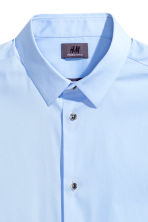 Stretch shirt Slim fit - Light blue - Men | H&M 3