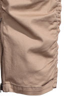 Cotton twill joggers - Beige - Men | H&M 3