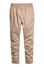 Cotton twill joggers - Beige - Men | H&M 2