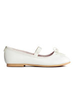 Ballet pumps with strap - White -  | H&M 3