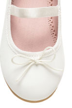 Ballet pumps with strap - White -  | H&M CN 4