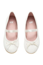 Ballet pumps with strap - White -  | H&M 2