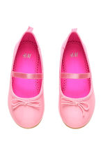 Ballet pumps with strap - Pink - Kids | H&M 1