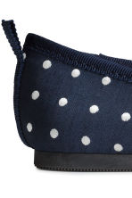 Ballet pumps with strap - Dark blue/Spotted - Kids | H&M CN 4