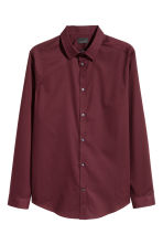 Premium cotton shirt - Burgundy - Men | H&M 2