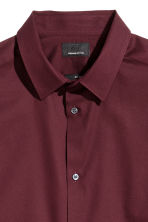 Premium cotton shirt - Burgundy - Men | H&M 3