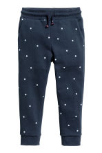慢跑褲 - Dark blue/Spotted -  | H&M 2
