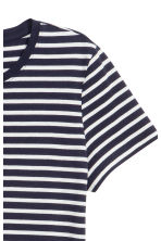 Cotton T-shirt - Dark blue/Striped - Ladies | H&M CA 3