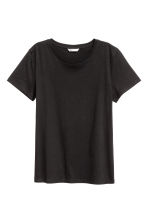 Cotton T-shirt - Black - Ladies | H&M CN 2