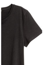 Cotton T-shirt - Black - Ladies | H&M CN 3