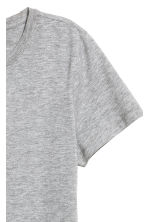 Cotton T-shirt - Grey marl - Ladies | H&M CN 3