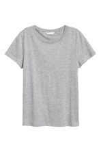 Cotton T-shirt - Grey marl - Ladies | H&M CN 2