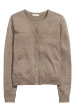 Fine-knit cotton cardigan - Mole - Ladies | H&M 2