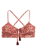 Bikini top - Rust red/Patterned - Ladies | H&M CN 2