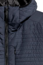 Quilted outdoor jacket - Dark blue - Men | H&M 3