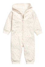 Hooded all-in-one suit - Natural white/Heart -  | H&M CN 1