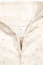 Hooded all-in-one suit - Natural white/Heart -  | H&M 2