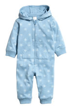Hooded all-in-one suit - Blue/Star - Kids | H&M 1